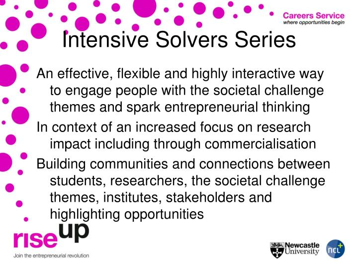 Intensive Solvers Series