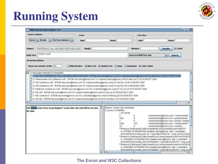 Running System