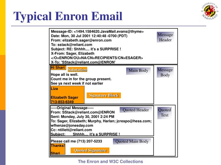 Typical Enron Email
