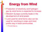 energy from wind