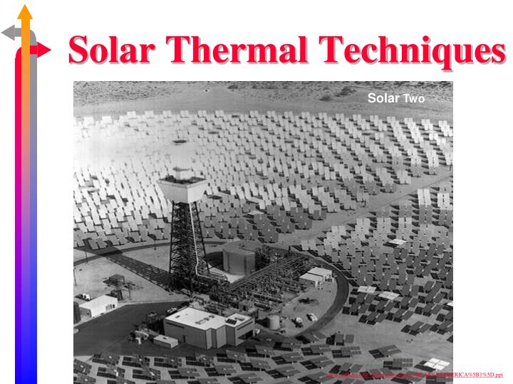 Solar Thermal Techniques