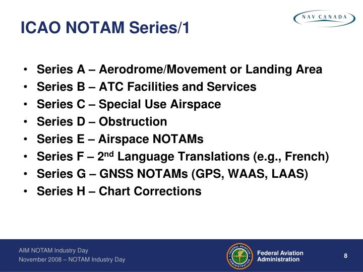 ICAO NOTAM Series/1