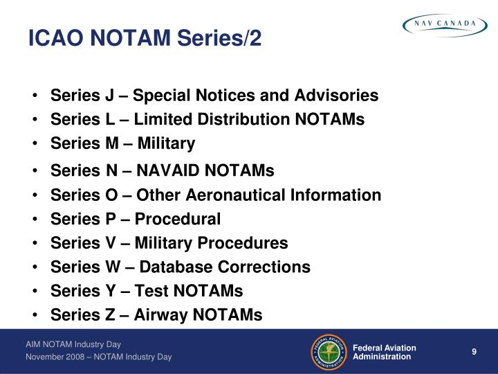 ICAO NOTAM Series/2