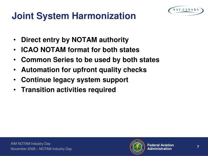 Joint System Harmonization