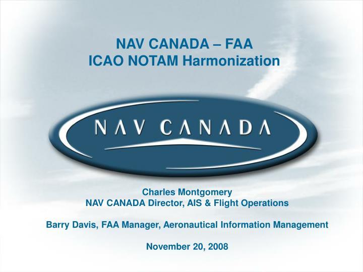 NAV CANADA – FAA