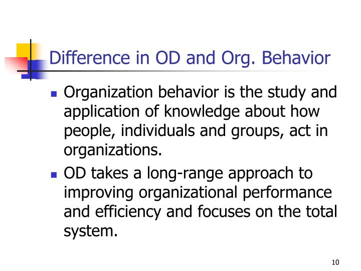 Difference in OD and Org. Behavior