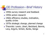 od profession brief history