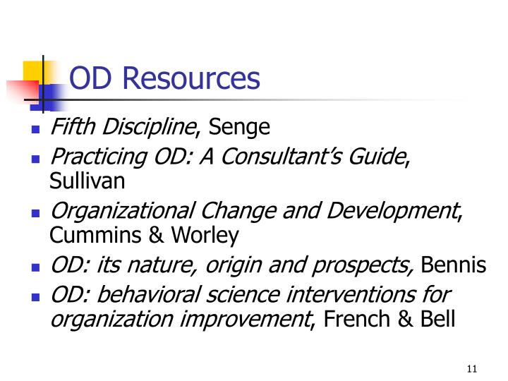 OD Resources