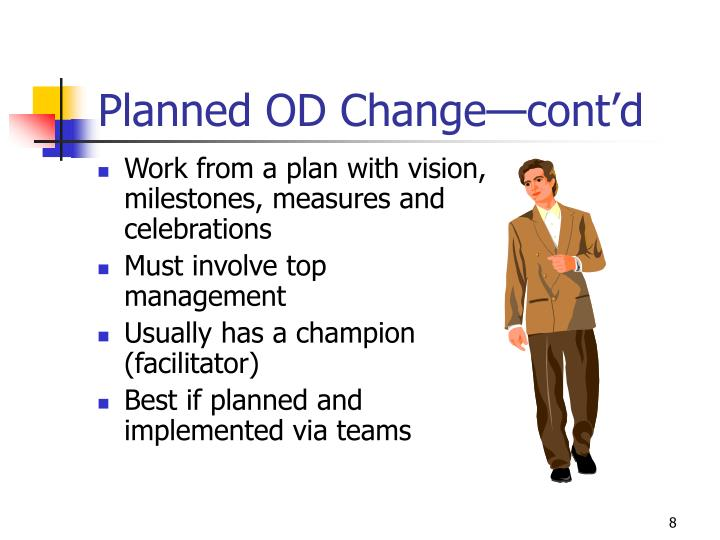 Planned OD Change—cont'd