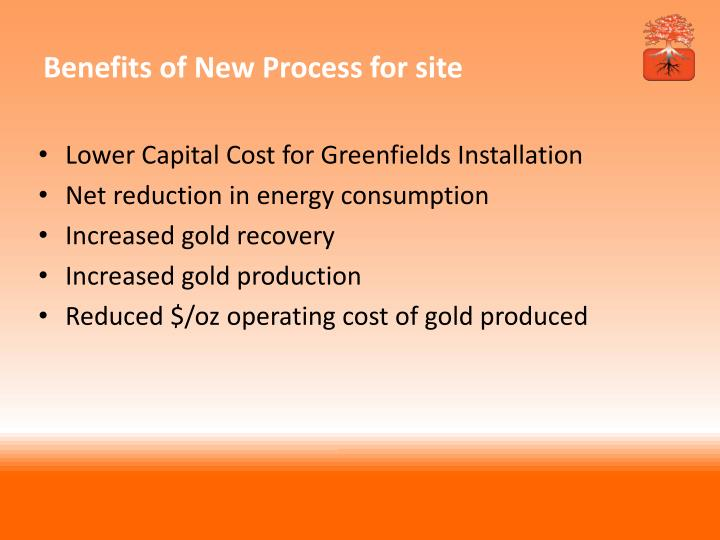 Benefits of New Process for site