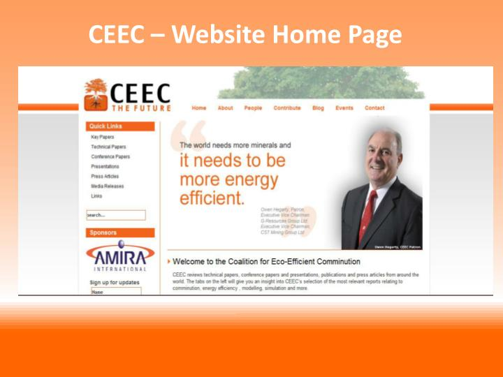 CEEC – Website Home Page