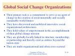 global social change organizations