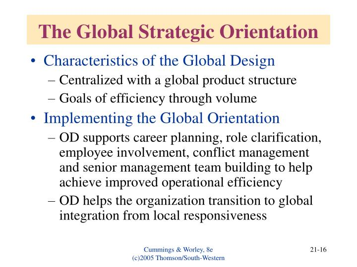 The Global Strategic Orientation