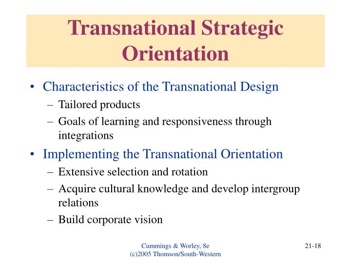 Transnational Strategic Orientation