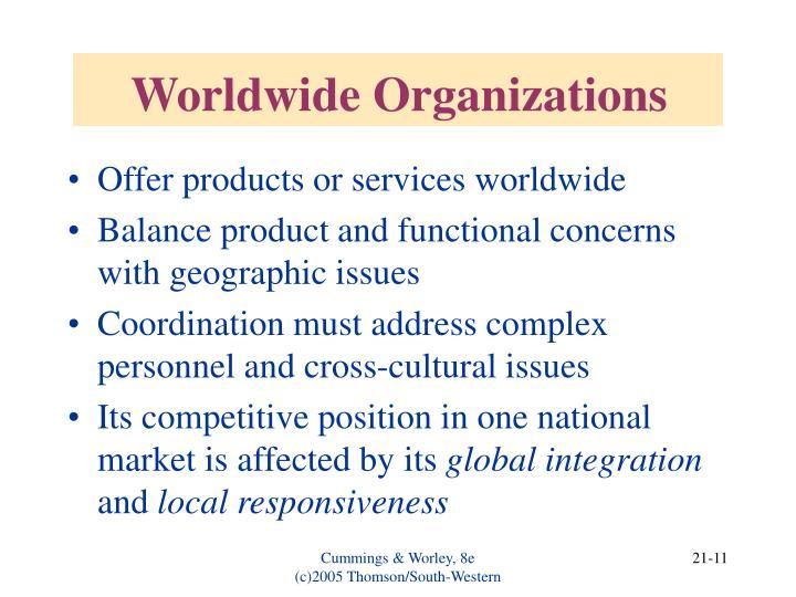 Worldwide Organizations