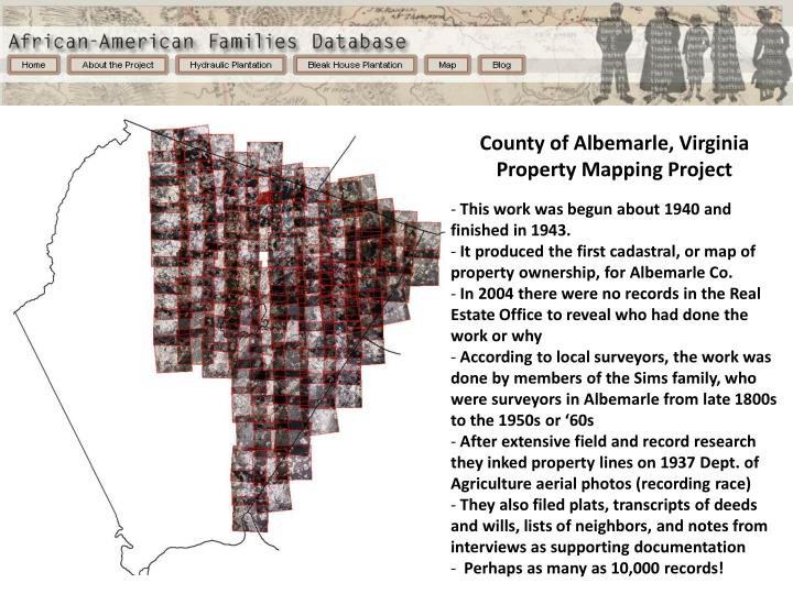 County of Albemarle, Virginia Property Mapping Project