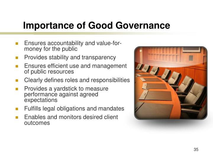 Importance of Good Governance