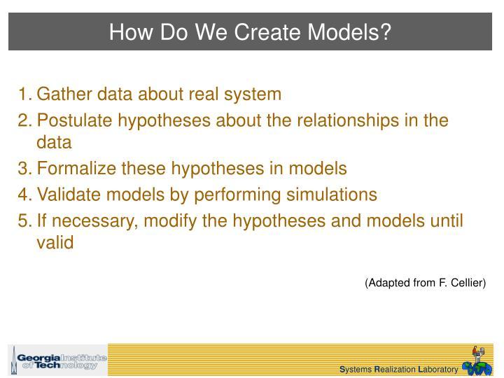 How Do We Create Models?