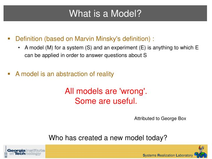 All models are 'wrong'.