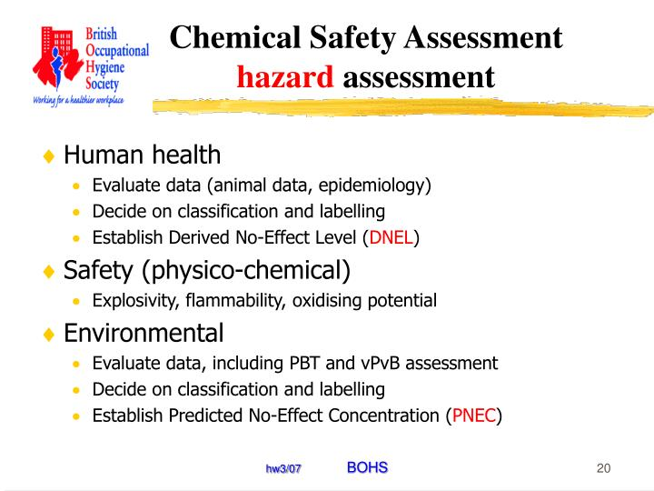 Chemical Safety Assessment