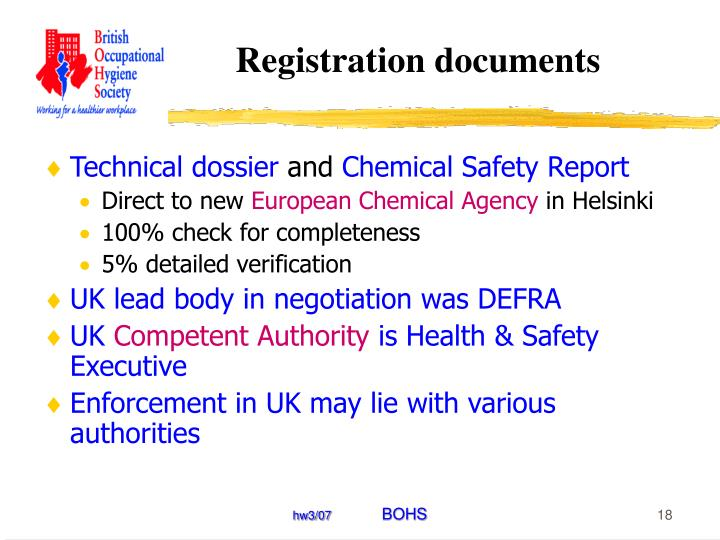 Registration documents