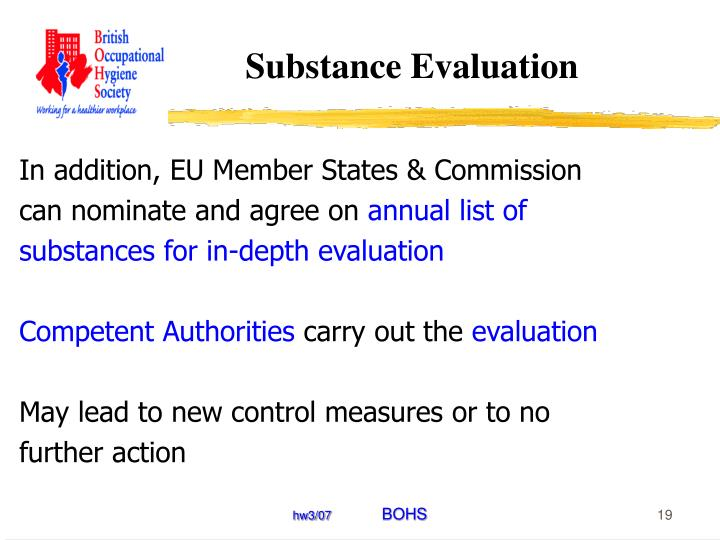 Substance Evaluation