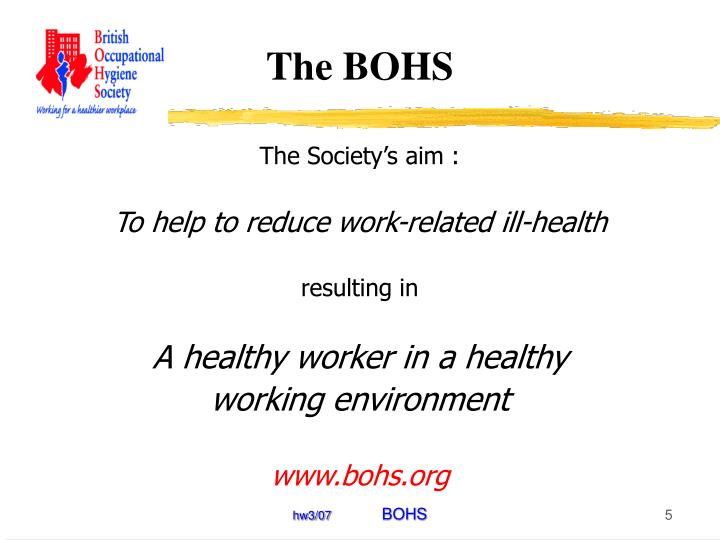 The BOHS