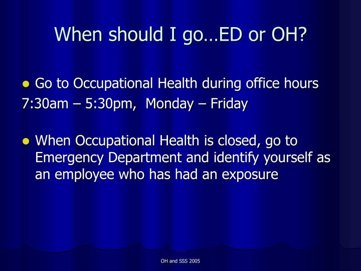 When should I go…ED or OH?