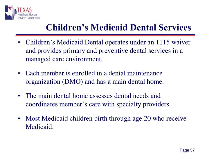 Children's Medicaid Dental Services