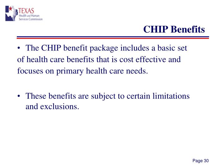 CHIP Benefits
