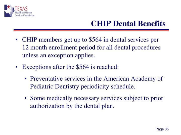CHIP Dental Benefits
