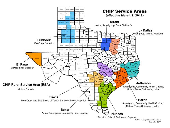 CHIP Service Areas