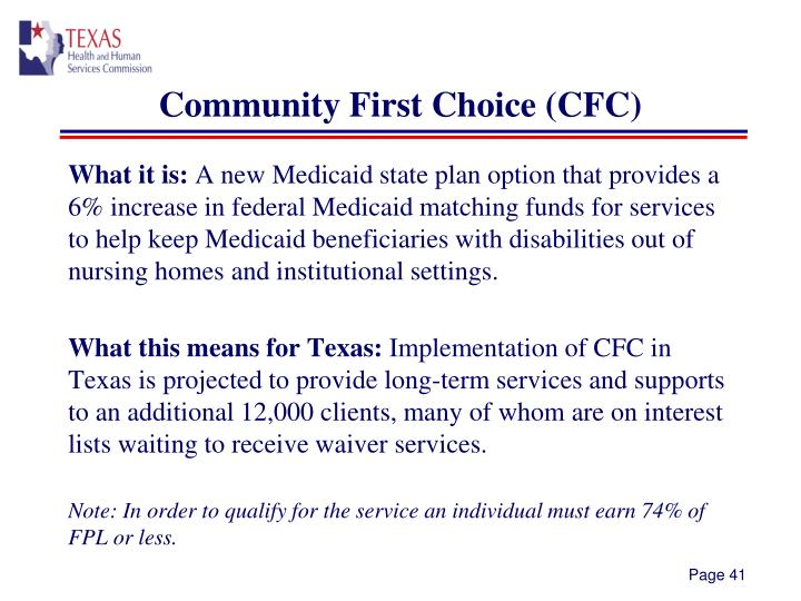 Community First Choice (CFC)