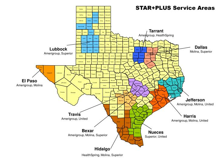 STAR+PLUS Managed Care    Service Areas