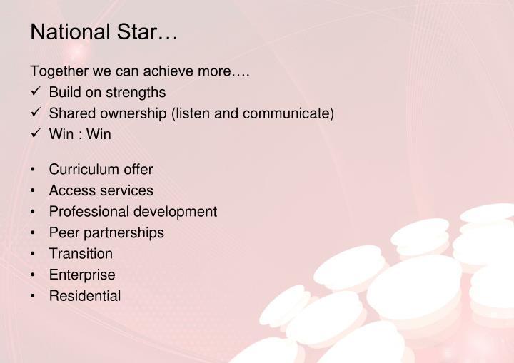 National Star…