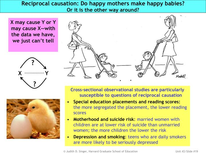 Reciprocal causation: Do happy mothers make happy babies?