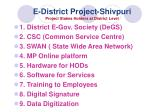 e district project shivpuri project stakes holders at district level