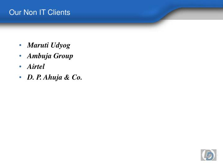 Our Non IT Clients