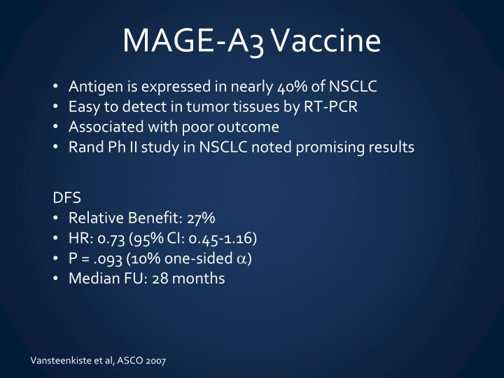 MAGE-A3 Vaccine