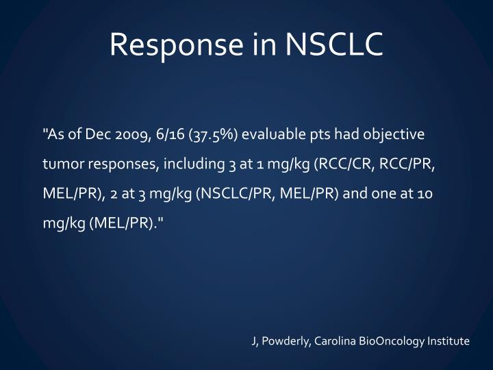 Response in NSCLC