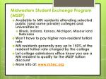 midwestern student exchange program msep