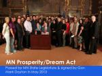 mn prosperity dream act