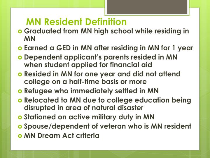 MN Resident Definition