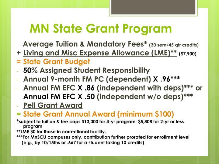 MN State Grant Program