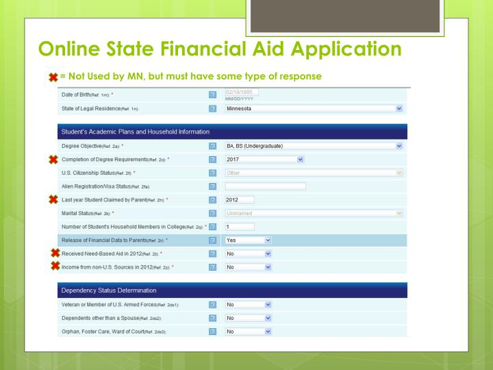 Online State Financial Aid