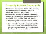 prosperity act mn dream act10