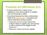 prosperity act mn dream act7