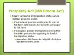 prosperity act mn dream act8