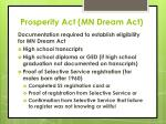 prosperity act mn dream act9