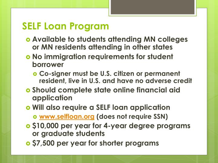SELF Loan Program